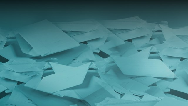 Stacks of paper piled up